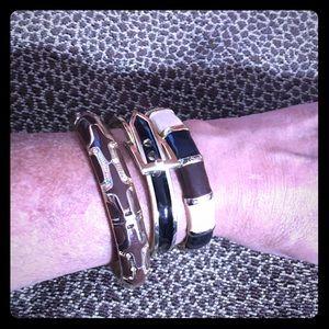 💥Set of 3 Brown, Black, Beige & Gold Bracelets💥